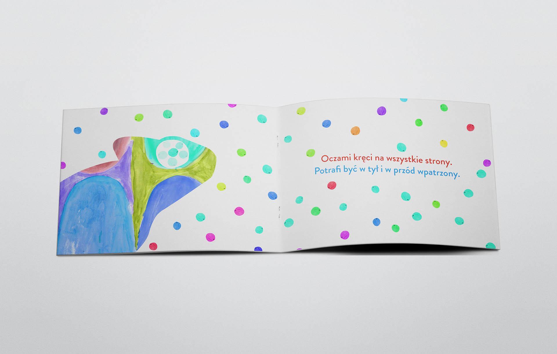Kameleon – książeczka dla dzieci.