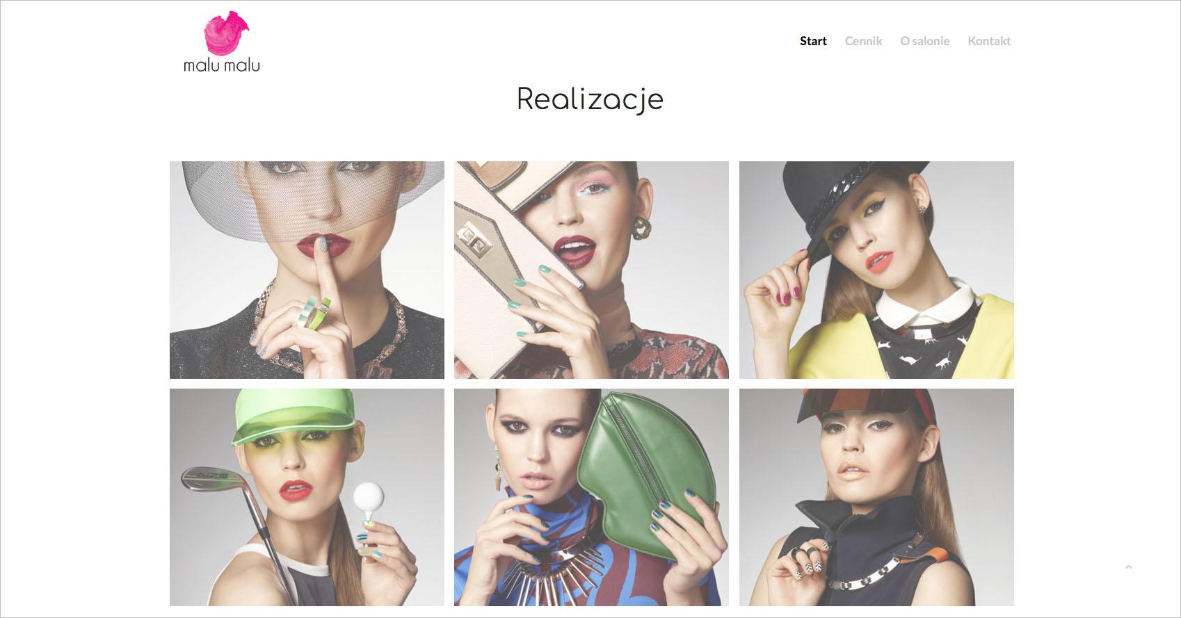 Malu Malu Salon Kosmetyczny – strona internetowa..